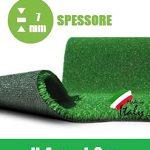 Rasenteppich 7mm Kunst Gras Teppich Fell Garten begehbar 4x3m